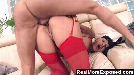 Aletta Ocean In Red Stockings Fucked In The Ass Porn Gif | Pornhub.com