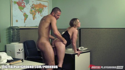 Kagney Linn Karter Fucked Standing At Her Desk Porn Gif | Pornhub.com